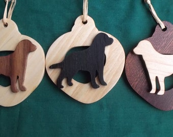Black Lab Ornament personalized with your dog's name