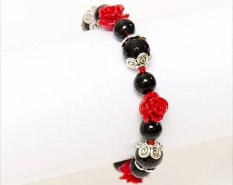 Vampire Bracelet - Gothic Bride Bracelet - Gothic Bracelet - Vampire Jewelry - Gift For Goth - Goth Jewelry - Gothic Wedding - Dark Jewelry