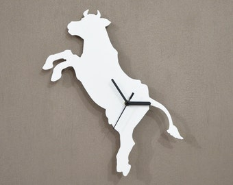 Flying Cow Silhouette - Wall Clock