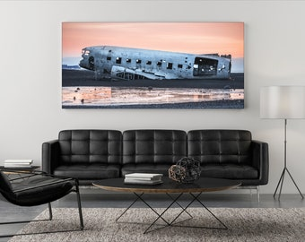 Airplane wreck Aludibond/Real photo poster
