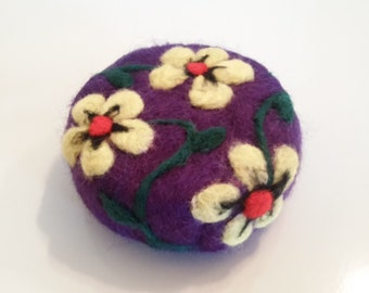 Yellow Flower Felted Soap