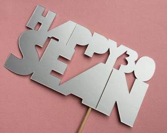 Personalised cake topper - BONZA Style