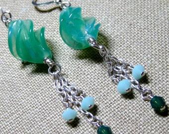 Almost Jade & Mint Earrings - E755