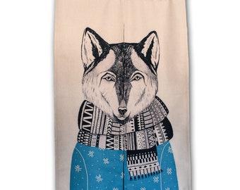 Winter wolf - Doorway curtain