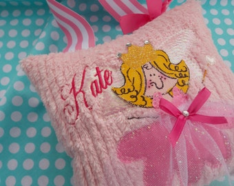 Girls Personalized Tooth Fairy Pillow With Hand painted face