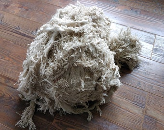 Rug material, off-white/light tan cotton