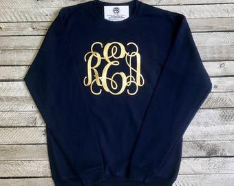 Monogrammed Sweatshirt, Monogram Sweatshirts, Monogrammed gifts, Crewneck Sweatshirt, Gift for her, Gifts under 20