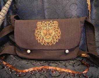 Big shoulder bag-big bag-lion's head