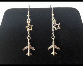 Airplane earrings - gift idea - Airhostess