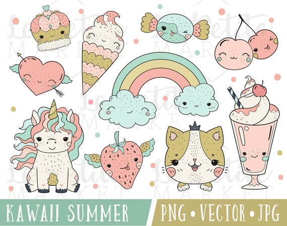 kawaii clipart for planner stickers digital sticker set rh etsy com kawaii clipart png kawaii clipart free