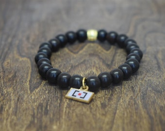 Ebony Wood Beaded Bracelet