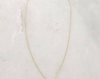 Mini Cognac Horn Necklace