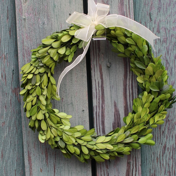 Boxwood Wreath Wedding Wreath Small Round Boxwood Spring