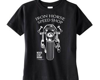 Iron Horse Speed Shop Toddler Black Shirt
