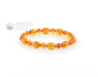 Baltic amber bracelet, Adults Amber Bracelet