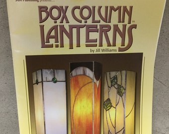 Used, Stained Glass Pattern Book, Box Column Lanterns, Lamps