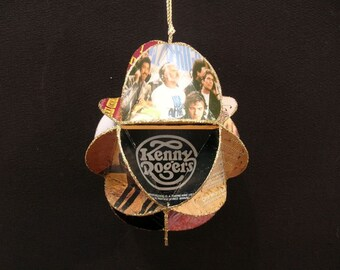 Kenny Rogers Album Cover Ornament Made From Record Jackets Country Music