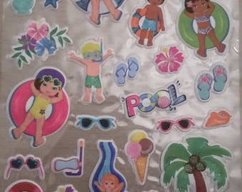 Puffy stickers stickers holiday travel
