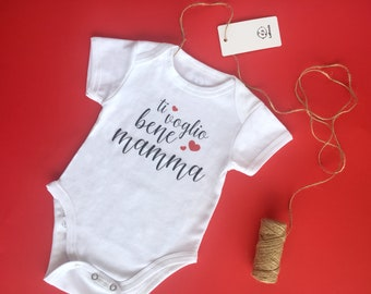 "Body ""I love you Mom"" 100% cotton"