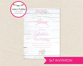 Bunny Birthday Invitation, Some Bunny, Bunny Birthday, Bunny Printables, Bunny Birthday Decorations, First Birthday, Lauren Haddox Designs
