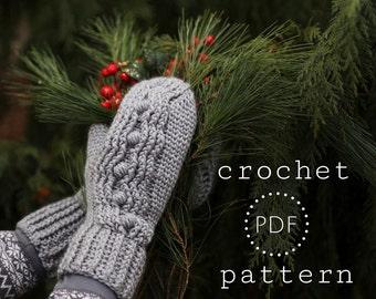 Madison Honeycomb mittens/mitts  PDF Pattern