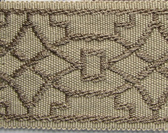 TAPE BRAID BORDER flat trim 2 inch oak