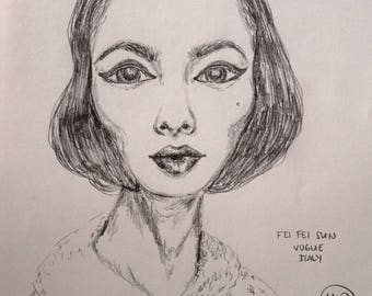 Vogue Drawing (Fei Fei Sun)