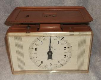 Vintage West German Trapezoid Brown Kitchen Scale 10 KG