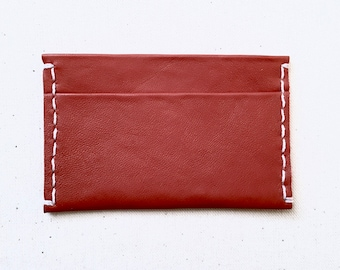 Terracotta Leather Card Case