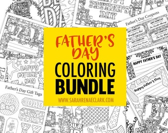 Father's Day Coloring Bundle