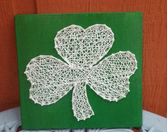 Lucky Shamrock String Art Green Home Decor- Housewarming gift, St Patrick's Day Wall Art