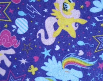 Fabric by the 1/2 Yard - My Little Pony Fleece Fabric