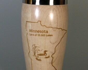 Maple Minnesota Travel Mug