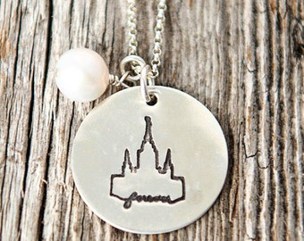 Oakland Temple, Temple Forever Necklace, Temple Necklace, Temple, LDS Jewelry, Mormon Charm, Temple Charms, LDS Wedding