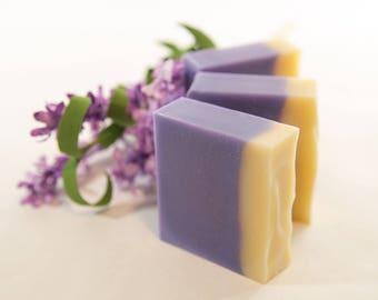 Lavender Goat's Milk Soap | Cocoa Butter Soap | Cold Process Handmade Soap | Fatty's Soap Co.