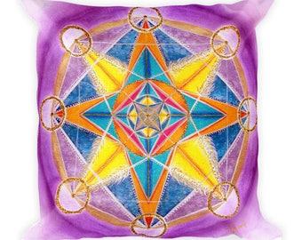 Heaven on Earth - Mandala Art Pillow