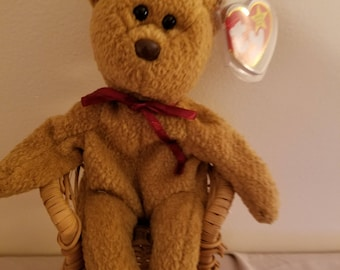 TY Beanie Babies Curly the Brown Teddy Bear /Retired 1998 /Vintage