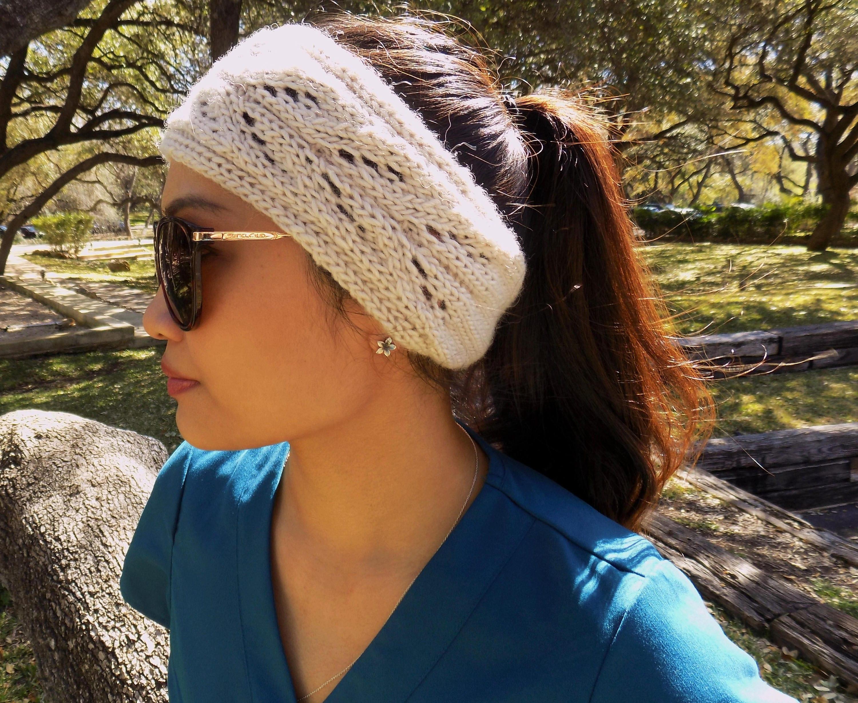 Knitting Pattern,Knit Head Warmer,Knit Ear Warmer,Messy Bun,Openwork ...