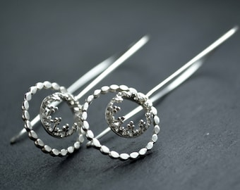 READY TO SHIP. Family Jewel box - sterling silver earrings