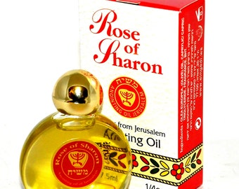 Rose of Sharon Anointing Oil 7.5 ml - 1/4oz From The Holyland Jerusalem.