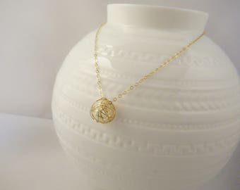Pearl necklace, bridesmaids gift, dainty necklace, gold necklace,