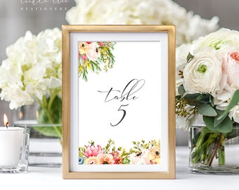 Mountainside Meadow - Table Numbers (Style 13751)