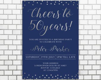 50th birthday invitation for men etsy 50th male birthday party invitations man birthday invitation men birthday invitation elegant birthday invitations for men adults invite filmwisefo