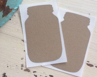 Mason Jar Blank Stickers / Seals / Rustic Wedding / Shabby Chic / Farmhouse