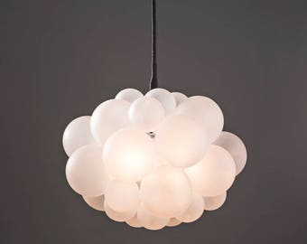 "The Frosted 31 Bubble Chandelier (22"" diameter) • Custom Cord Options • LED lighting • Modern Chandelier"