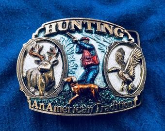 Vintage American Hunting Belt Buckle