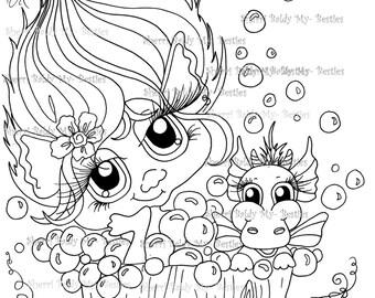 INSTANT DOWNLOAD Digital Digi Stamps Big Eye Big Head Dolls NEW Bestie Twinkle Toes Troll Scan0057 My Besties  By Sherri Baldy