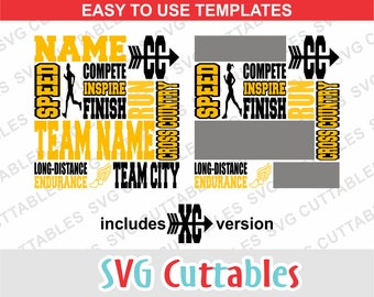 Cross Country svg, cross country subway art SVG, DXF, EPS, cross country template, Silhouette file, Cricut cut file, digital download