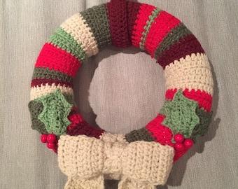 Bespoke crochet Christmas wreath