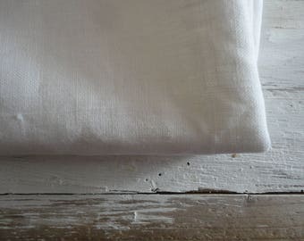 white linen TABLECLOTH, hand made from different qualities of white linen _ heavy, midi-weight or light